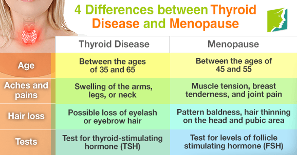 4 differences between thyroid disease and menopause