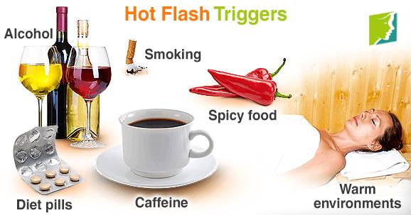 Hot flash triggers