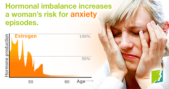 Hormonal imbalance increases a woman's risk for anxiety episodes