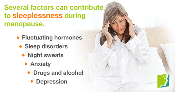 Several factors can contribute to sleeplessness during menopause.