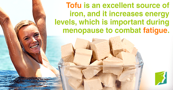 Tofu is an excellent source of iron, and it increases energy levels